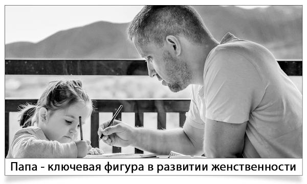 папа и девочка